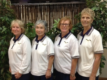Open Fours runners-up 2016 -- Robyn Howard, Shizuko Hashimoto, Catherine Ryan and Bridget Nelson (Gordon)