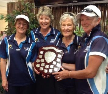 Open Fours winners 2016 - Elizabeth Blackwell, Jenny Hepburn, Jenny Palmer and Lynne Thompson (Neutral Bay)