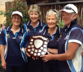 Open Fours winners 2016 - Elizabeth Blackwell, Jenny Hepburn, Jenny Palmer and Lynne Thompson (Neutral Bay)