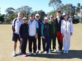 The North Shore District Mixed Pairs finalists