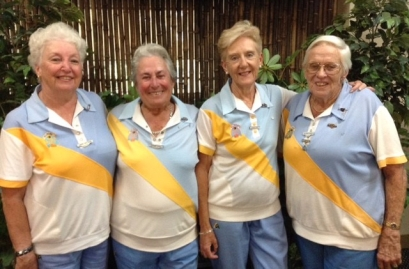 Senior Fours Winners 2016 -- Gwen Butters, Denise Levy, Diane Kent, Eleanor Swain (Belrose)