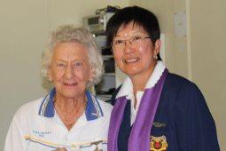 Dorothy McDermott (Turra) with Jenny Wallis