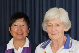 June Patterson (Turra) with Jenny Wallis