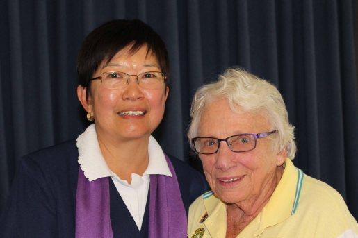 Shirley Ashton (WP) with Jenny Wallis