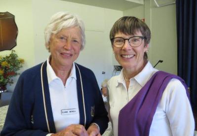 Elaine Morrell with Billie Maas