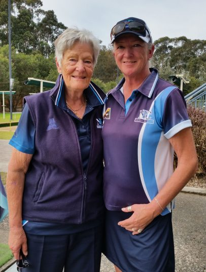 Pairs RPO winners 2017 J Palmer & L Thompson (Neutral Bay)