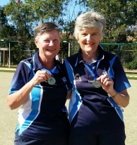 2017 Region 15 Senior Pairs Champions G Barton & B Walker (Neutral Bay)